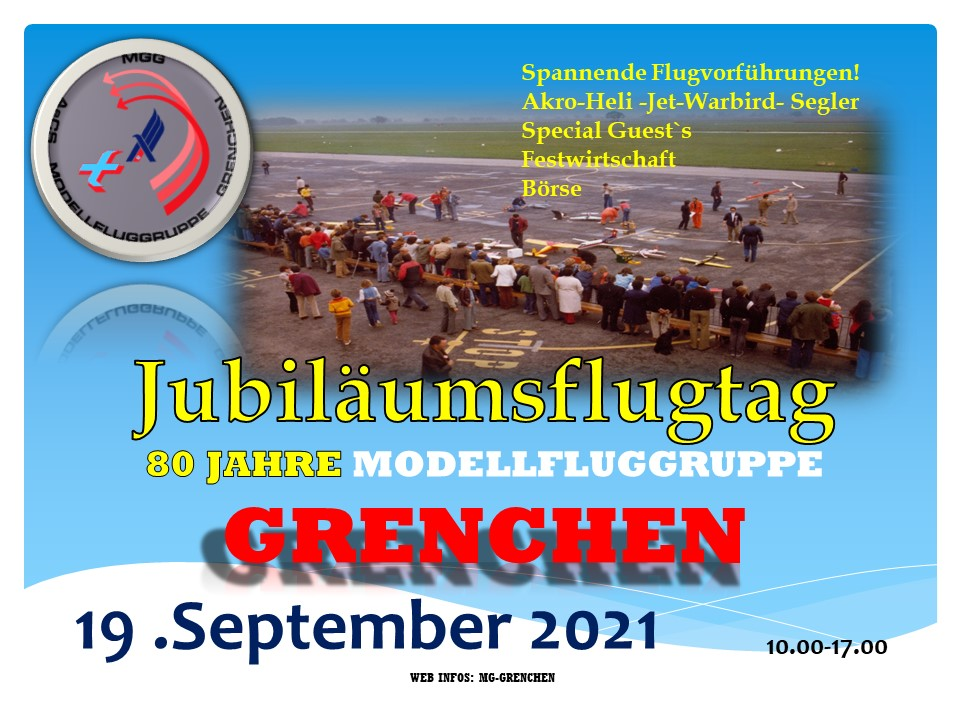 80Jahre MG Grenchen Modellflugtag